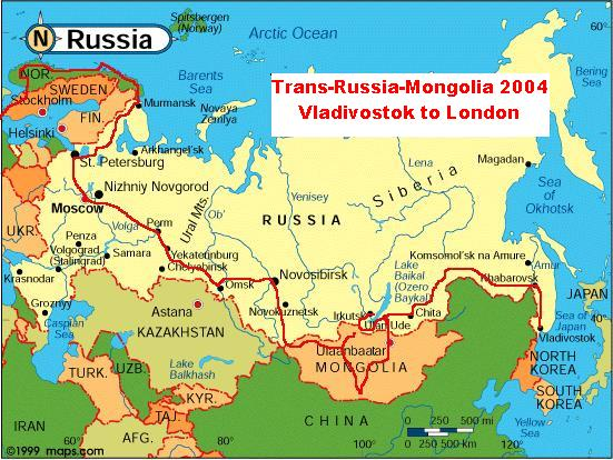 Russia Mongolia Map